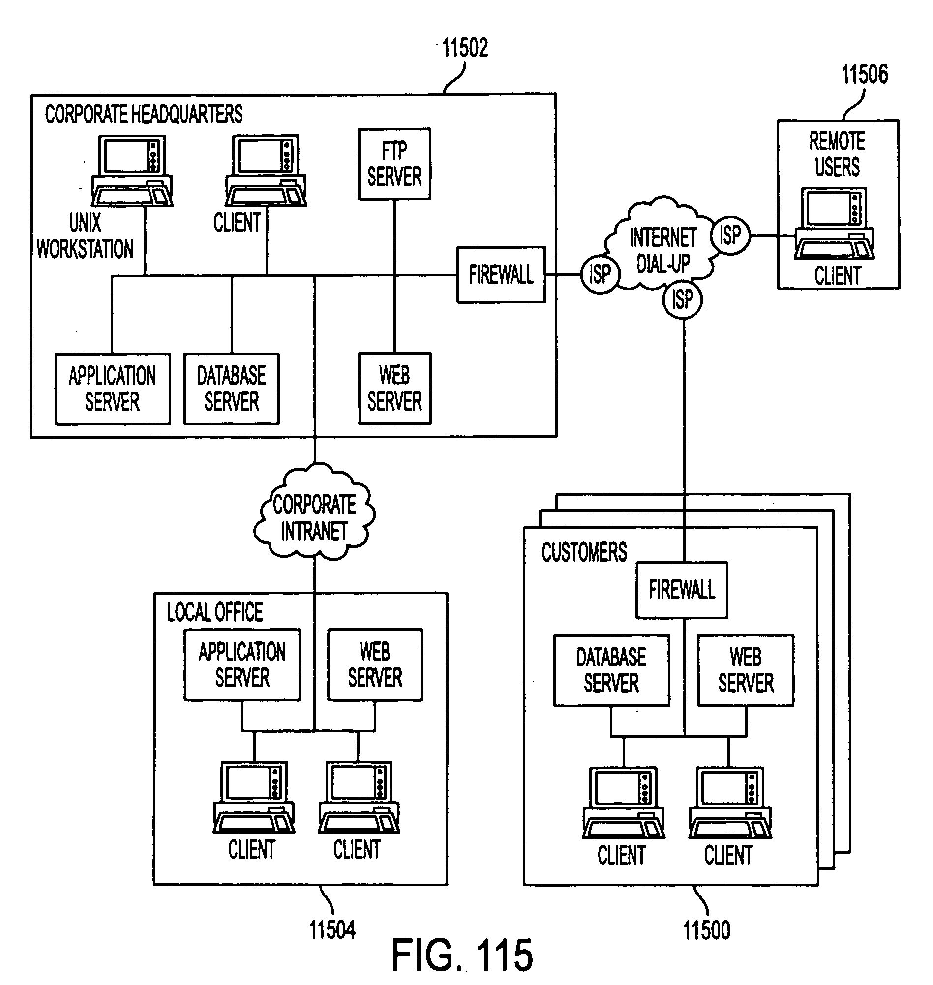 Patent Us 20040064351a1 Network Diagram For Internetbased Servers Scenario 4 With Intranet Images