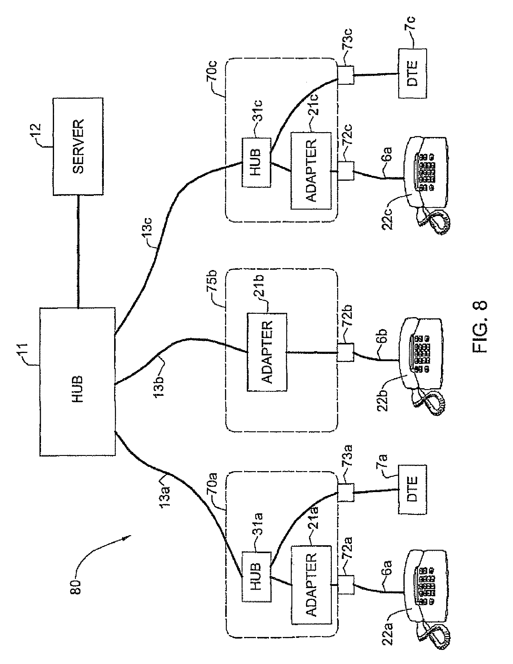 home phone wiring junction box including patent us6549616