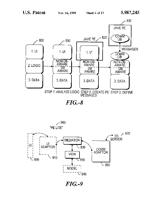 Patent Us 5987245 A