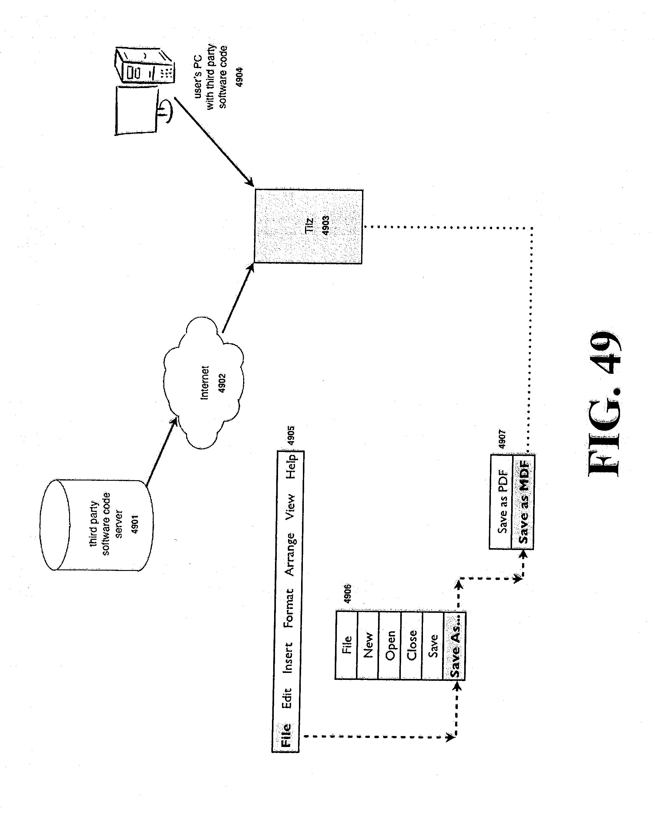 patent us 20120190386a1 TCP IP Cloud petitions