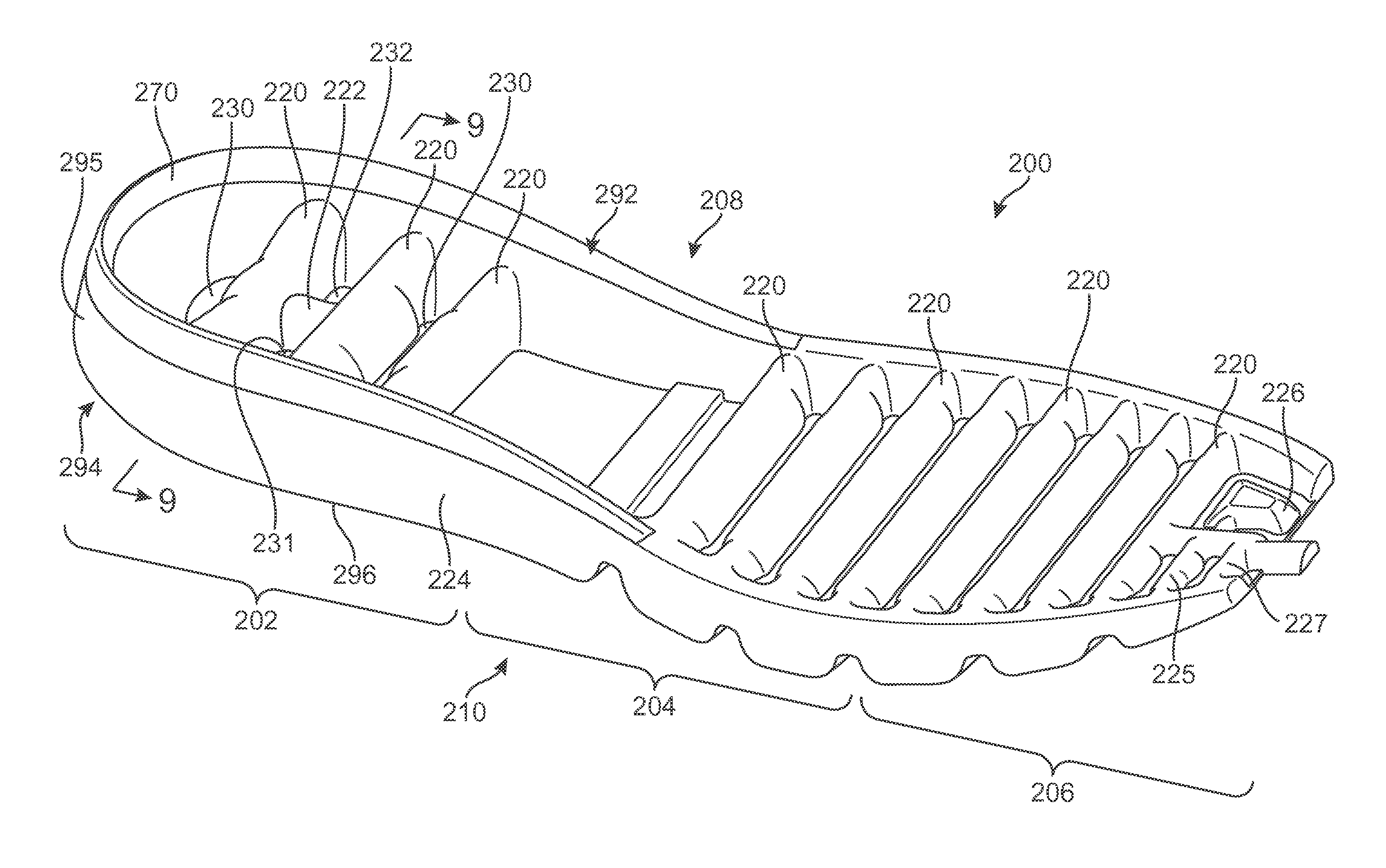 patent us 9 609 912 b2 Bone Between Ankle and Heel first claim