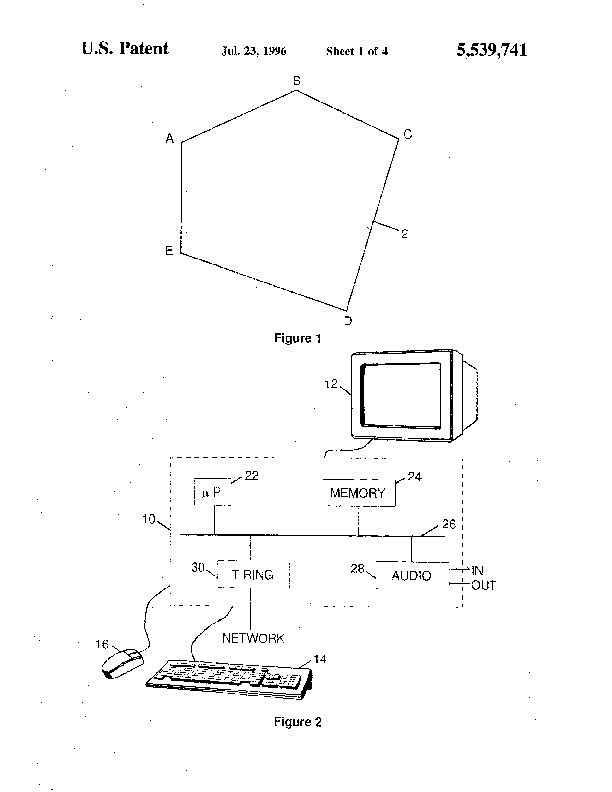 Patent Us 5539741 A