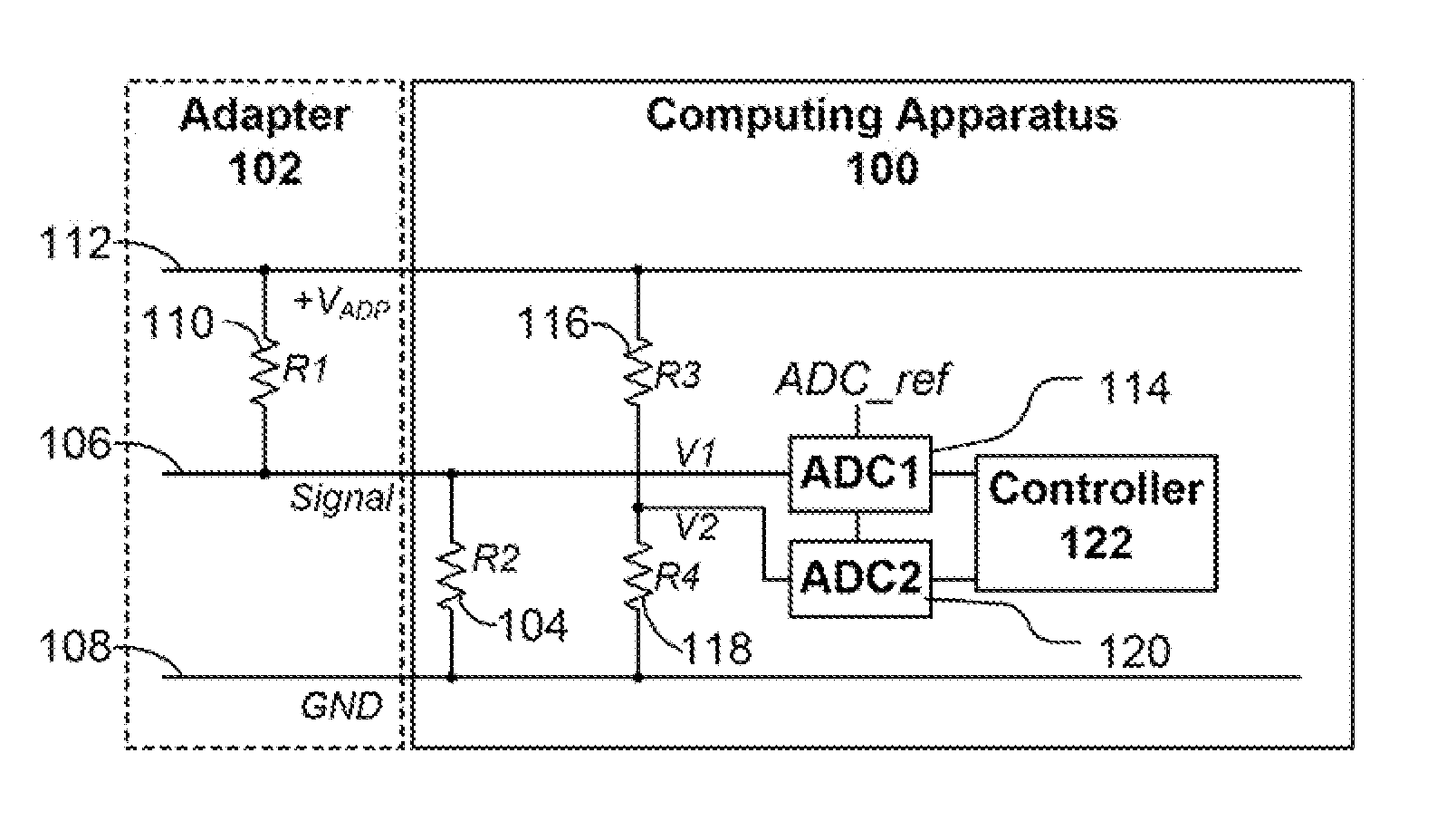 Patent Us 9910450 B2 Voltage Divider Controlling First Claim