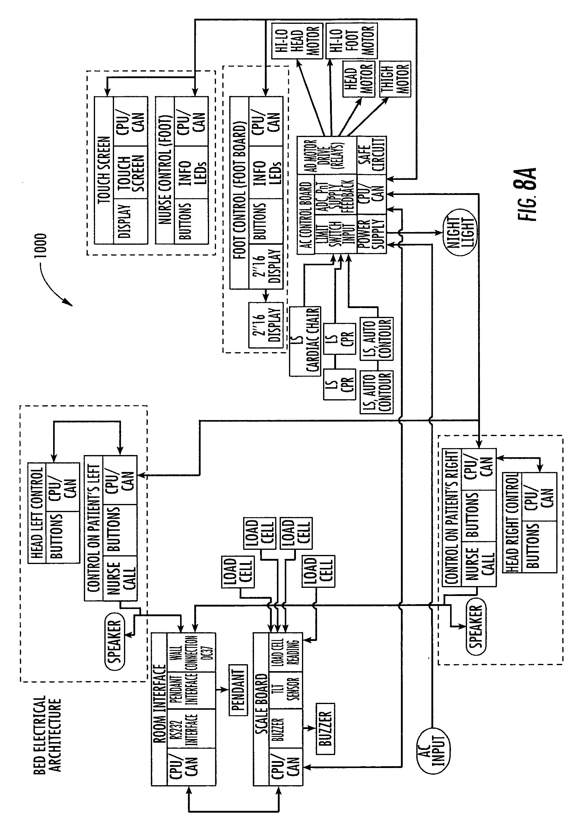 Hospital Bed Remote Control Wiring Diagrams Patent Us 7962981 B2 Images