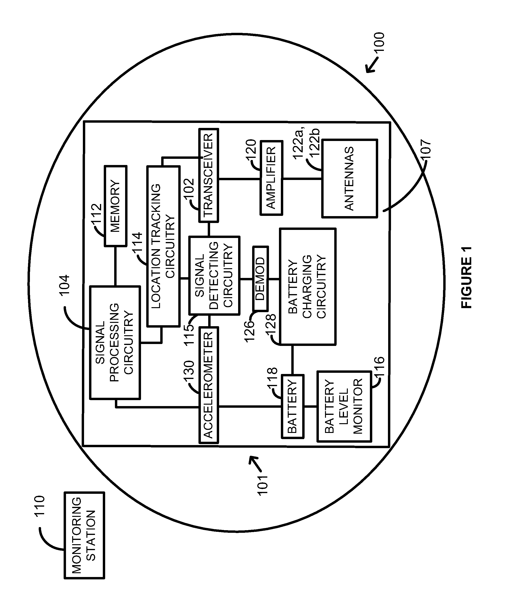 Patent Us 8542113 B2 Figure1 Automatic Door Bell With Object Detection Circuit Diagram Images