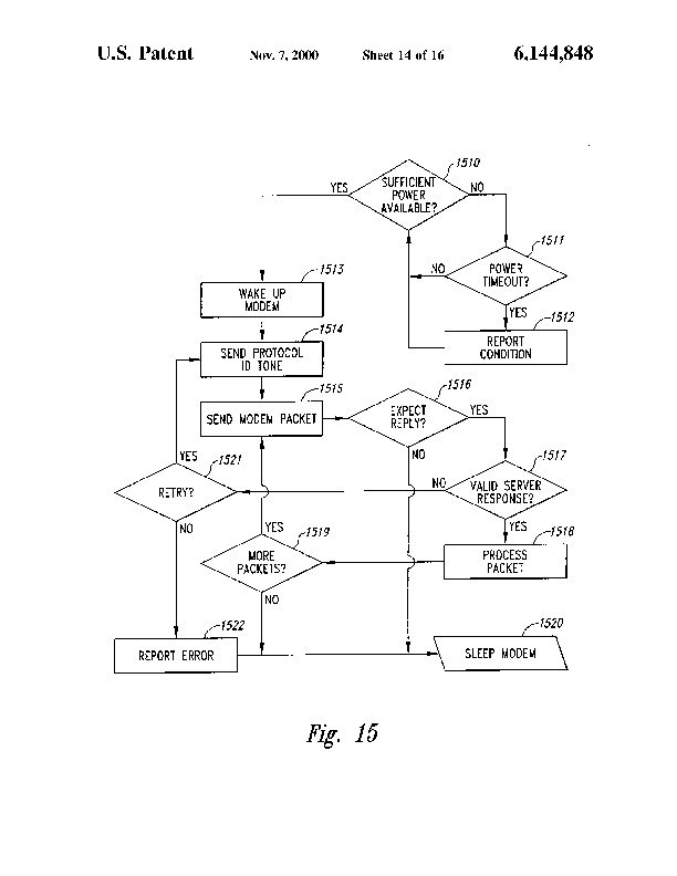 Patent Us 6144848 A