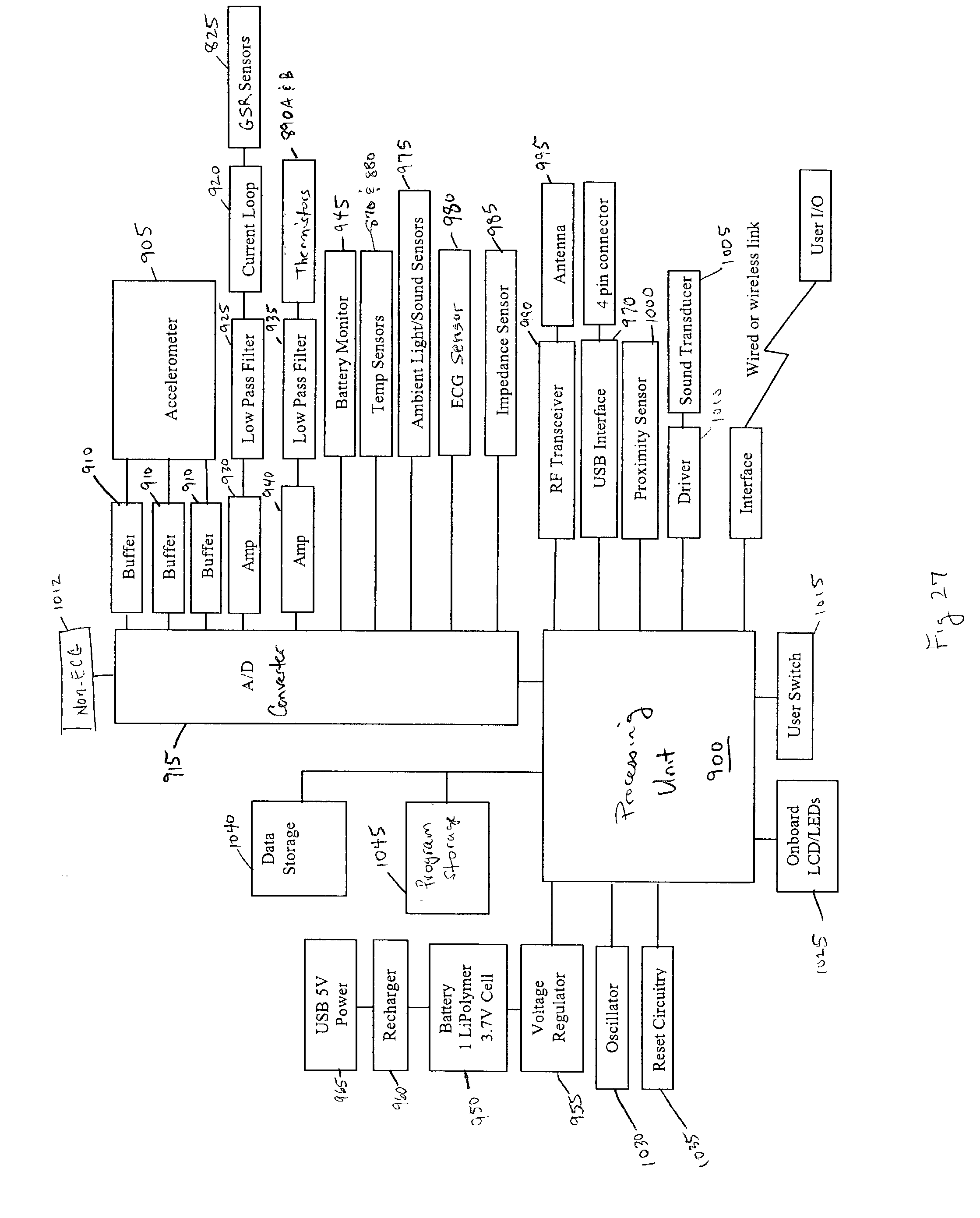 Patent Us 7020508 B2 Emg Block Diagram As Well Sensor Lifier Circuit Piezo On Capacitive Litigations