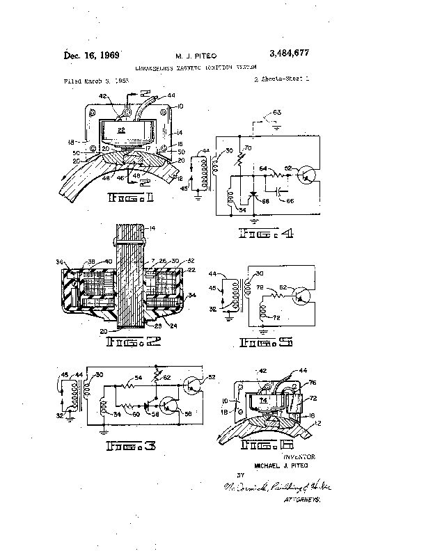 Magneto Ignition System Circuit Diagram Patent Us3484677 Breakerless on