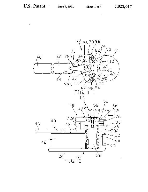 Patent Us 5021617 A
