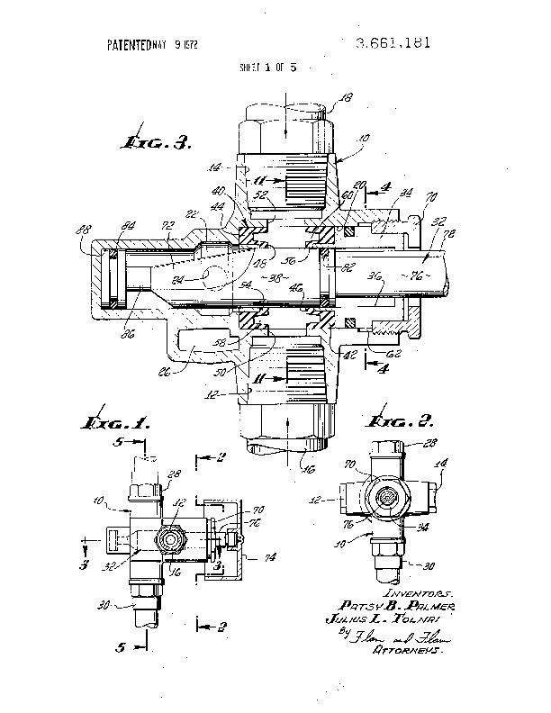 Patent Us 3661181 A
