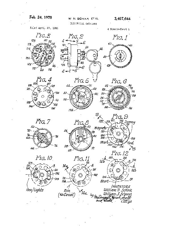 Patent US 3,497,644 A on 5 wire ignition switch diagram, murray lawn mower wiring diagram, universal ignition switch diagram, bolens riding lawn mower diagram, wheel horse tractor wiring diagram, murray ignition switch diagram, 1978 chevrolet wiring diagram, indak ignition switch diagram, bolens lawn tractor wiring diagram, bolens riding mower belt diagram, riding lawn mower wiring diagram,